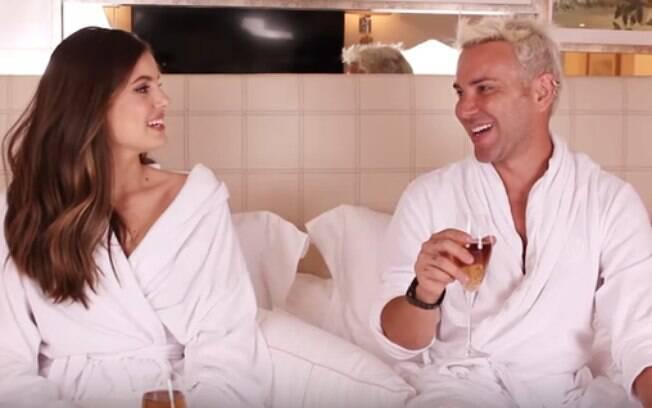 Camila Queiroz faz revelações em vídeo de Matheus Mazzafera