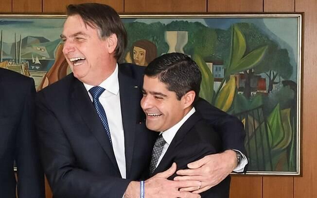 Jair Bolsonaro e ACM Neto no Palácio do Planalto em 2019