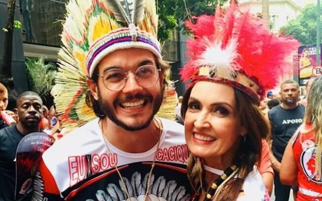 Fátima Bernardes e Túlio Gadelha curtindo o carnaval no Rio de Janeiro