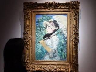 Quadro de Edouard Manet é um retrato da atriz Jeanne Demarsy passeando com seu guarda-sol