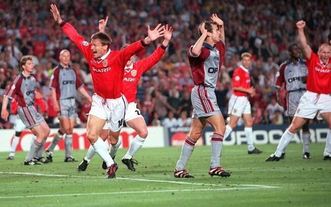 Sheringham fez o primeiro gol do Manchester United