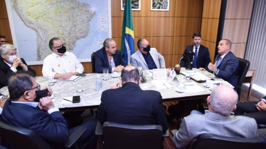 Ministro Onyx Lorenzoni se reúne com presidente da CUT
