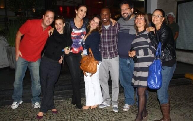 Carolina Dieckmann, Ivete Sangalo, Fernanda Souza e Thiaguinho posam para fotos