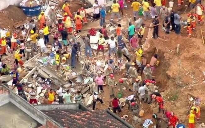 Deslizamento em Niterói ocorreu na madrugada de sexta-feira para sábado