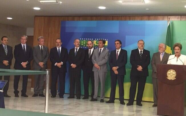 Dilma faz pronunciamento em que ataca Eduardo Cunha