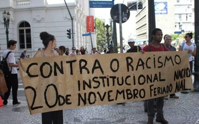 Manifestação pelo dia da consciência negra