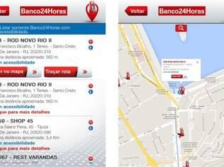 Aplicativo ajuda usuário a encontrar terminais de autoatendimento do Banco24Horas e está disponível para Android e iOS gratuitamente
