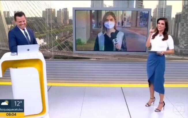 Sabina Simonato chama repórter de Luiza Mell no Bom Dia São Paulo