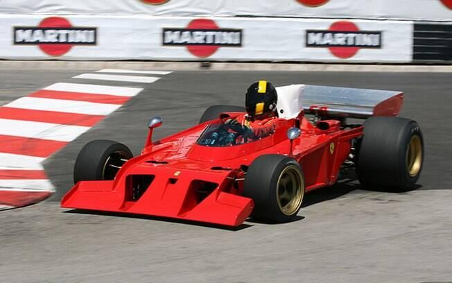 A Ferrari 312 B3, de 1972, tinha grandes entradas de ar na parte frontal. Para a saúde ocular da população humana, o carro não chegou a competir corridas oficiais
