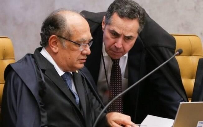 Gilmar x Barroso: ministros foram interrompidos pela presidente do STF, ministra Cármen Lúcia, mas voltaram a discutir