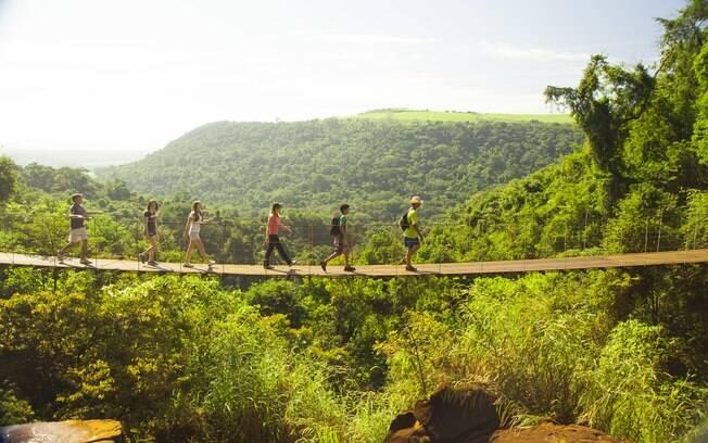 A maioria dos passeios em Brotas envolvem muita aventura e ainda proporciona um contato maior com a natureza