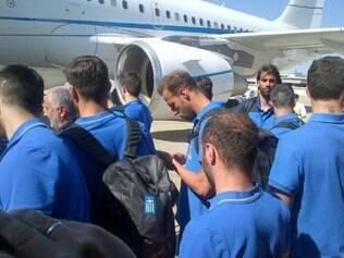 Seleção da Grécia anda não conseguiu desembarcar no Brasil