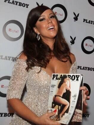 Meyrielle Abrantes lança ensaio nu para a 'Playboy', em São Paulo