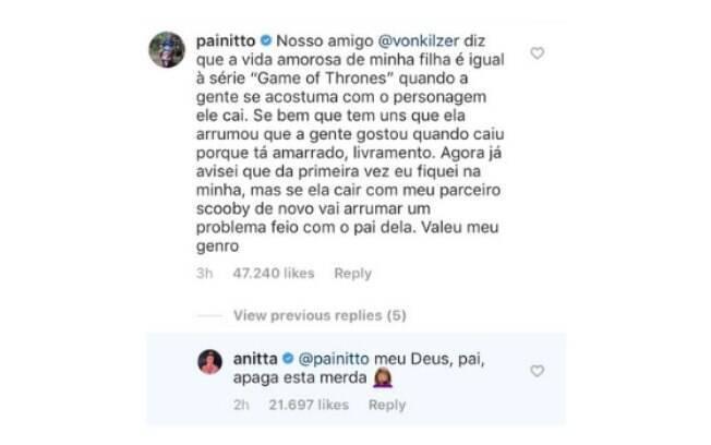 Comentário de pai de Anitta