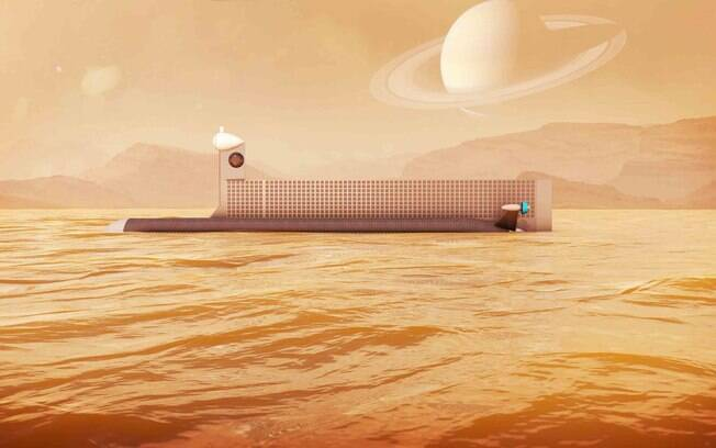 Submarino seria levado ao mar de Titan por mini espaçonave militar dos Estados Unidos