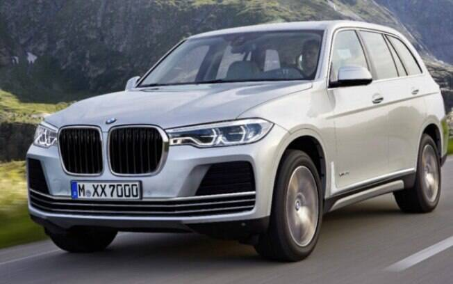 """O BMW X7,  um SUV """"full-size"""" para até 7 lugares, estreia este ano no mercado norte-americano"""