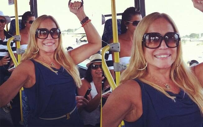Susana Viera no ônibus: cena inusitada