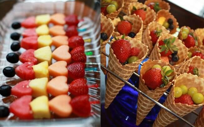 Há várias formas divertidas de servir frutas nas festas, que vão bem além da forma tradicional, com a fruta inteira