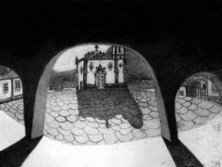 Série de trabalhos é inspirada em edificações de cidades históricas de Minas