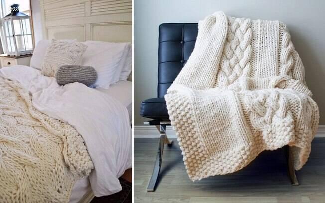 Espalhe mantas pela casa e veja os ambientes tornarem-se mais convidativos e aconchegantes