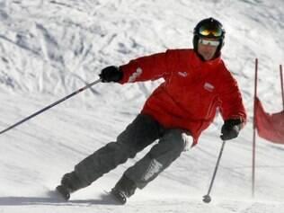 Antes de sofrer o acidente, Michael tinha o costume de esquiar com o filho, nos Alpes Franceses