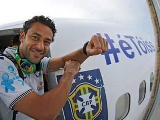 Fred foi o representante da seleção brasileira em foto tirada para homenagear Neymar