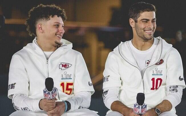 Jimmy Garoppolo%2C do 49ers, e Patrick Mahomes%2C do Chiefs