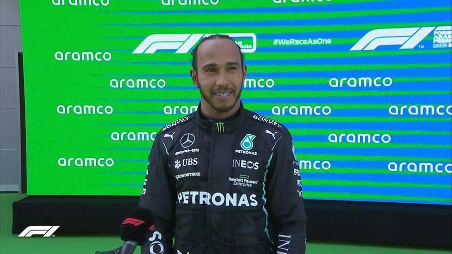 Lewis Hamilton, durante o GP da Espanha