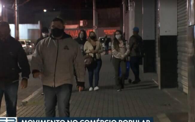Movimentação nas ruas do Brás%2C em SP%2C após a flexibilização da quarentena