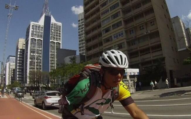 David Sousa ciclista sem braço