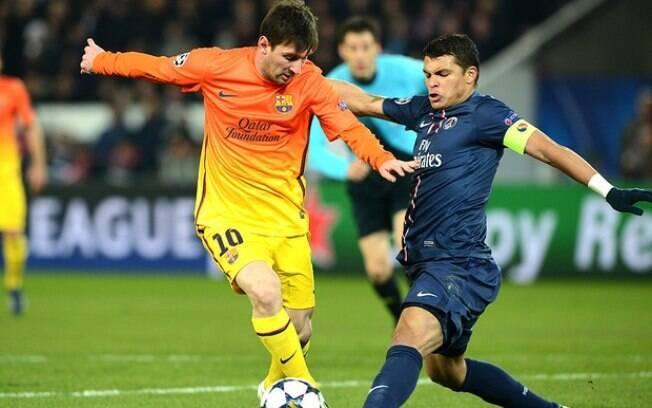 Thiago Silva já marcou Messi em partidas do PSG contra o Barcelona e também do Brasil contra a Argentina