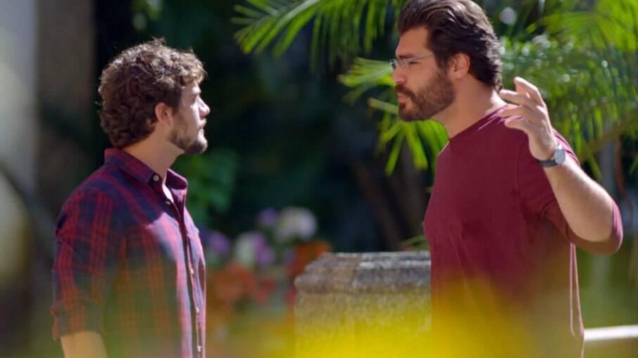 Lúcio e Rodrigo acabam discutindo