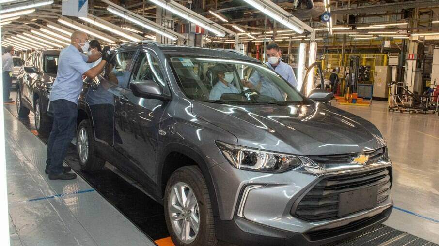 Nova geração do Chevrolet Tracker é um dos modelos montados na fábrica de São Caetano do Sul (SP)