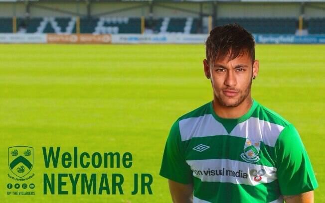 North Ferriby United, clube da sexta divisão inglesa, anunciou a contratação do brasileiro Neymar