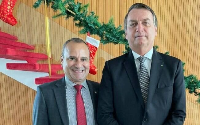 Prefeito eleito de Belford Roxo, Waguinho, e presidente Jair Bolsonaro