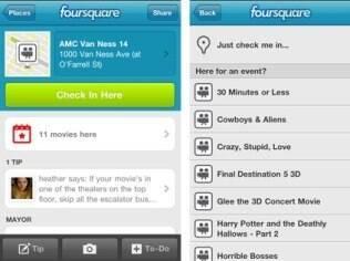 Página do local mostrará se existem eventos cadastrados para fazer check-in