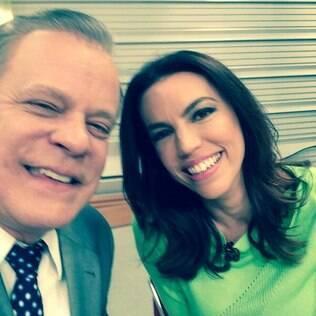 Chico Pinheiro e Ana Paula Araújo em selfie