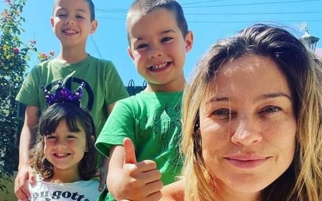 Luana Piovani e os três filhos