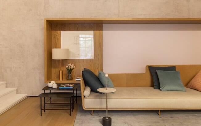 Fernanda Moreira Lima utilizou o Cimento Queimado, na cor Zeppelin, para decorar o ambiente exposto na CASACOR