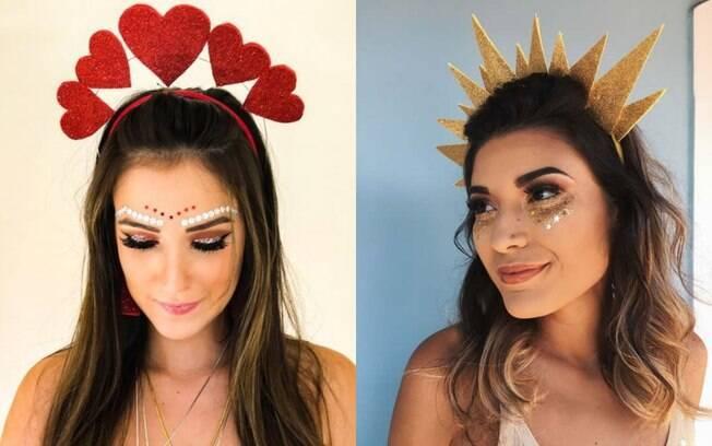 Para fazer uma tiara de carnaval em casa você precisa de um arquinho e de EVA para a decoração