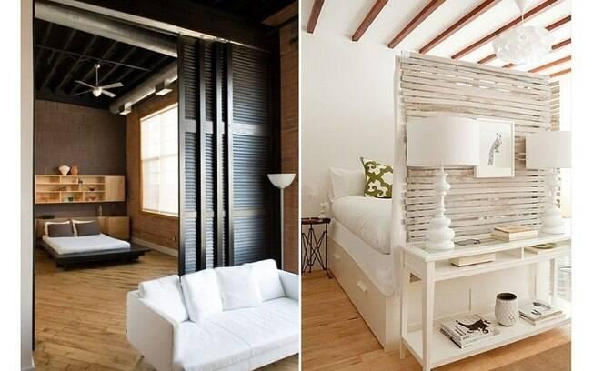 Mesmo em um apartamento pequeno e sem criar novas paredes, é, sim, possível isolar um ambiente e criar um