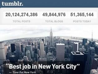 Números do Tumblr mostram quase 50 milhões de blogs hospedados