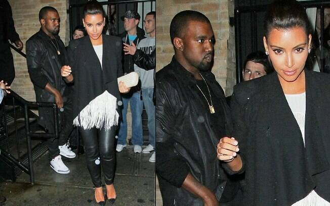 Kim Kardashian e Kanye West deixam restaurante onde a socialite apresentou o rapper aos pais