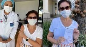 Lilia Cabral é vacinada contra a Covid:
