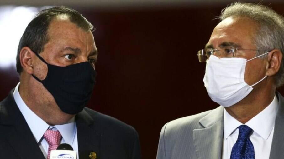 Bolsonaro chamou Aziz e Calheiros de