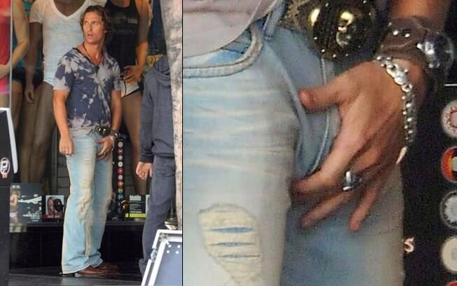 Matthew McConaughey foi clicado em momento indiscreto