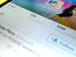 Katy Perry, com mais de 52 milhões de seguidores, supera artistas como Rihanna e Britney Spears