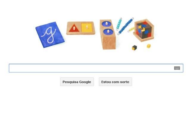 Google lança novo doodle para lembrar nascimento de Maria Montessori