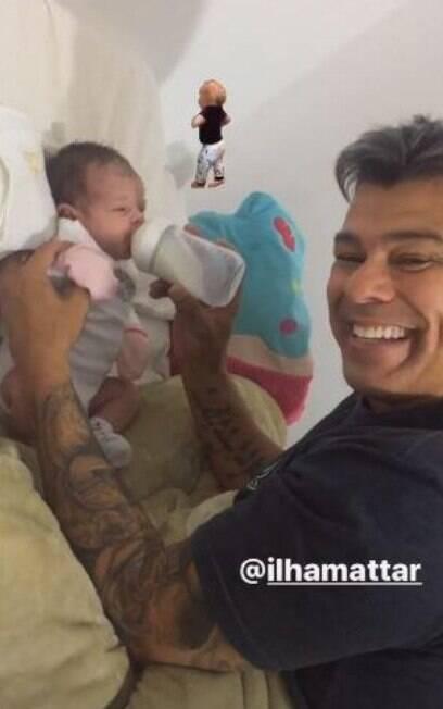 Maurício Mattar com filha