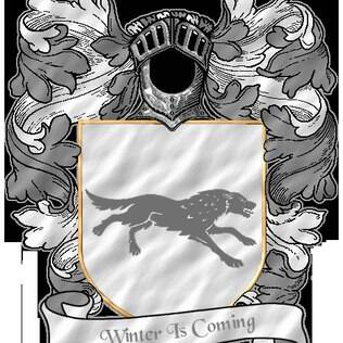 O brasão da Casa Stark é um lobo cinzento